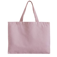 Solid Alice Pink in an English Country Garden Zipper Mini Tote Bag