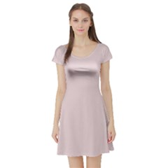 Solid Alice Pink in an English Country Garden Short Sleeve Skater Dress