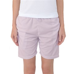 Solid Alice Pink in an English Country Garden Women s Basketball Shorts
