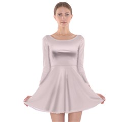 Solid Alice Pink in an English Country Garden Long Sleeve Skater Dress
