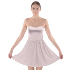 Solid Alice Pink in an English Country Garden Strapless Bra Top Dress