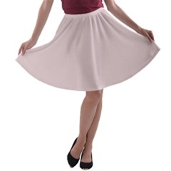 Solid Alice Pink in an English Country Garden A-line Skater Skirt
