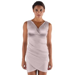 Solid Alice Pink in an English Country Garden Wrap Front Bodycon Dress