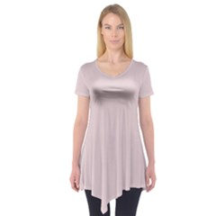 Solid Alice Pink in an English Country Garden Short Sleeve Tunic