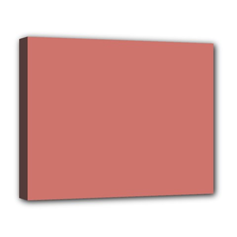 Camellia Pink in an English Country Garden Deluxe Canvas 20  x 16