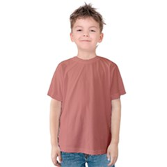 Camellia Pink in an English Country Garden Kids  Cotton Tee