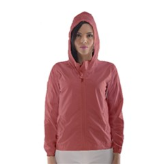 Camellia Pink in an English Country Garden Hooded Wind Breaker (Women)