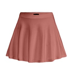 Camellia Pink in an English Country Garden Mini Flare Skirt