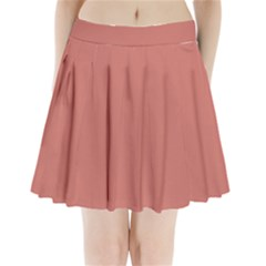 Camellia Pink in an English Country Garden Pleated Mini Skirt