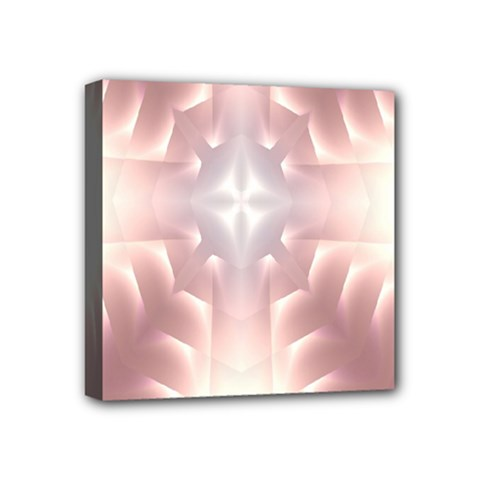 Neonite Abstract Pattern Neon Glow Background Mini Canvas 4  x 4