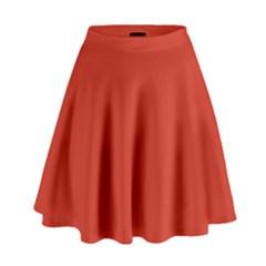 Dahlia Red in an English Country Garden High Waist Skirt