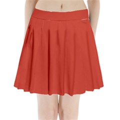 Dahlia Red in an English Country Garden Pleated Mini Skirt