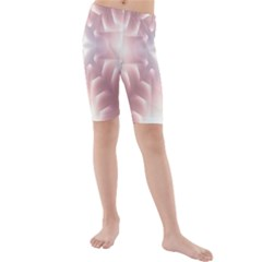 Neonite Abstract Pattern Neon Glow Background Kids  Mid Length Swim Shorts