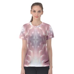 Neonite Abstract Pattern Neon Glow Background Women s Sport Mesh Tee
