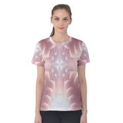 Neonite Abstract Pattern Neon Glow Background Women s Cotton Tee