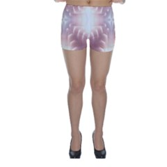 Neonite Abstract Pattern Neon Glow Background Skinny Shorts