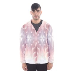 Neonite Abstract Pattern Neon Glow Background Hooded Wind Breaker (Men)