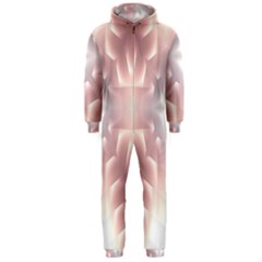 Neonite Abstract Pattern Neon Glow Background Hooded Jumpsuit (Men)