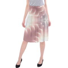 Neonite Abstract Pattern Neon Glow Background Midi Beach Skirt