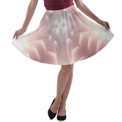 Neonite Abstract Pattern Neon Glow Background A Line Skater Skirt