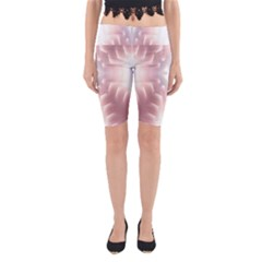 Neonite Abstract Pattern Neon Glow Background Yoga Cropped Leggings