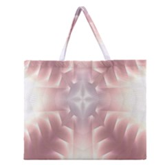 Neonite Abstract Pattern Neon Glow Background Zipper Large Tote Bag