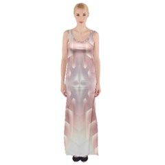 Neonite Abstract Pattern Neon Glow Background Maxi Thigh Split Dress