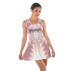 Neonite Abstract Pattern Neon Glow Background Cotton Racerback Dress