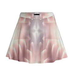 Neonite Abstract Pattern Neon Glow Background Mini Flare Skirt