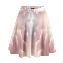 Neonite Abstract Pattern Neon Glow Background High Waist Skirt
