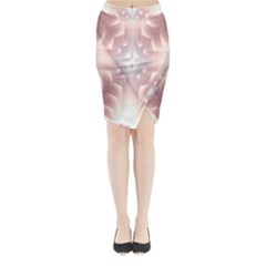 Neonite Abstract Pattern Neon Glow Background Midi Wrap Pencil Skirt