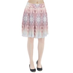Neonite Abstract Pattern Neon Glow Background Pleated Skirt