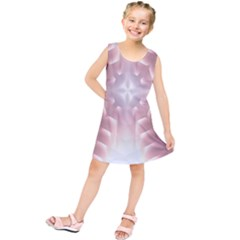 Neonite Abstract Pattern Neon Glow Background Kids  Tunic Dress
