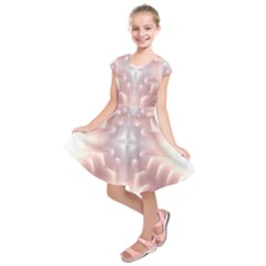 Neonite Abstract Pattern Neon Glow Background Kids  Short Sleeve Dress