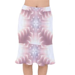 Neonite Abstract Pattern Neon Glow Background Mermaid Skirt