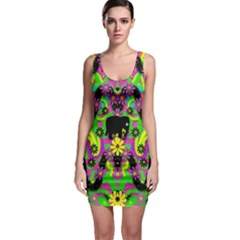 Jungle life and apples Sleeveless Bodycon Dress