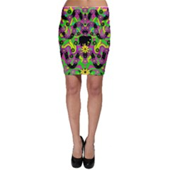 Jungle life and apples Bodycon Skirt