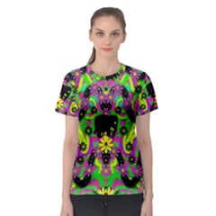 Jungle life and apples Women s Sport Mesh Tee
