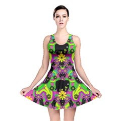 Jungle Life And Apples Reversible Skater Dress