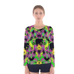 Jungle life and apples Women s Long Sleeve Tee