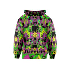 Jungle life and apples Kids  Zipper Hoodie