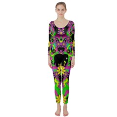 Jungle life and apples Long Sleeve Catsuit