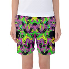 Jungle life and apples Women s Basketball Shorts