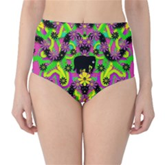 Jungle life and apples High-Waist Bikini Bottoms