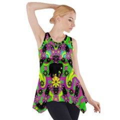 Jungle life and apples Side Drop Tank Tunic