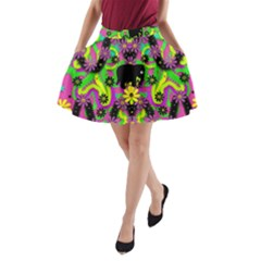 Jungle life and apples A-Line Pocket Skirt