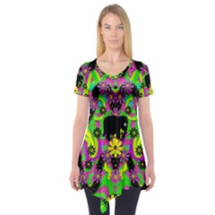 Jungle life and apples Short Sleeve Tunic