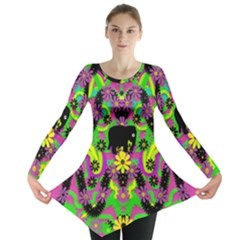 Jungle Life And Apples Long Sleeve Tunic