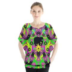Jungle life and apples Blouse