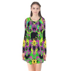 Jungle life and apples Flare Dress